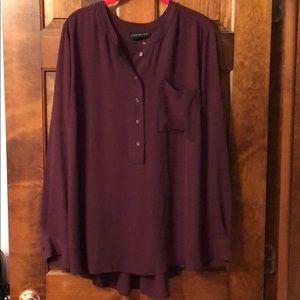 Lane Bryant maroon blouse